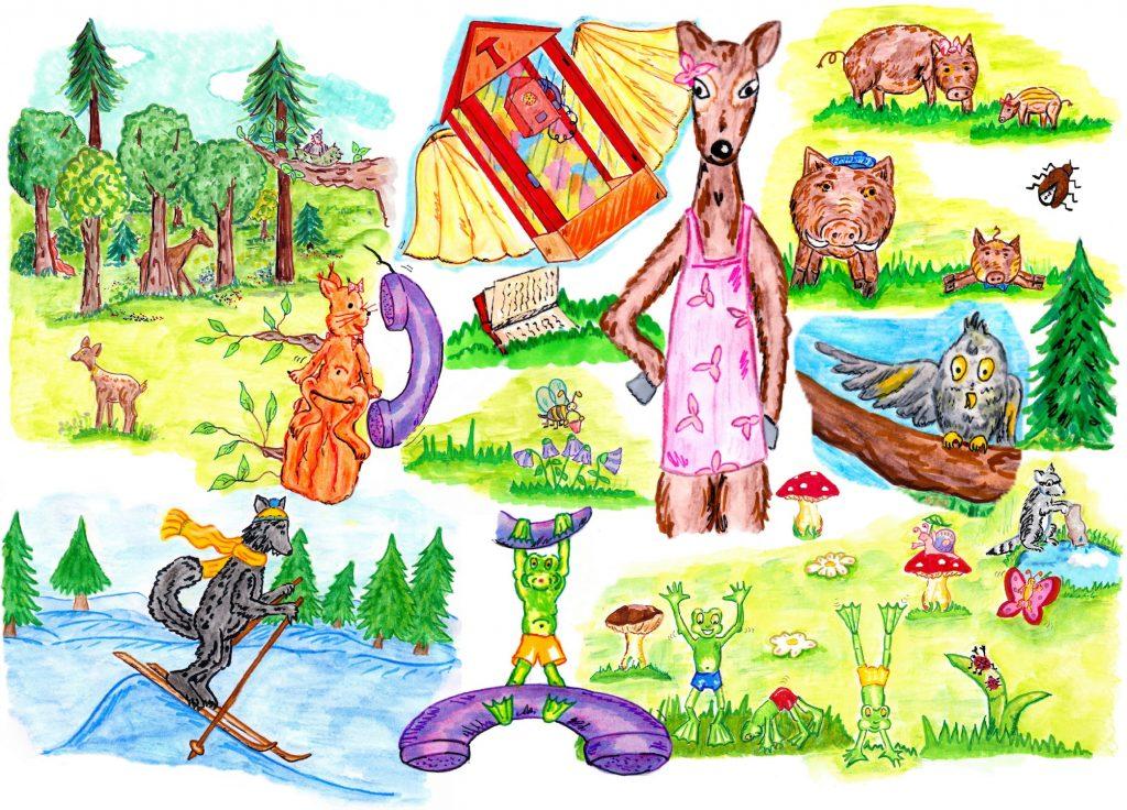 Das Glückstelefon oder die Entstehung der Jahreszeiten - Szenenbilder...